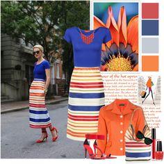 """""""Summer stripes"""" by elegancerules on Polyvore"""