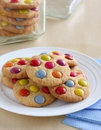 Easy Smartie Biscuits | Bundaberg Sugar. used the leftover smarties from the cake. easy.