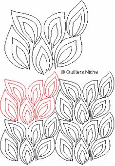 QK-021 Leafy Filler quilting design