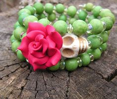 Day of the dead bracelet (I want those beads)