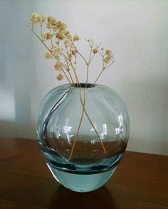 Lovely delicate blue Danish glass vase by Per Lutken for Holmegaard, signed PL and dated Found on Etsy. cm x cm. Nordic Art, Glass Art, Opal, Delicate, Etsy, Home Decor, Glass Vase, Decoration Home, Room Decor