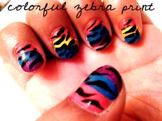 Bright colors with zebra stripes