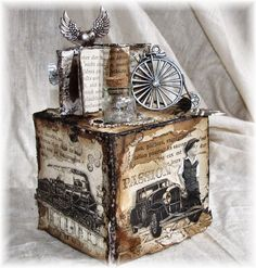 Frilly and Funkie: Welcome to today's Guest Designer, Kerstin!  Amazing Steampunk Artist Trading Block