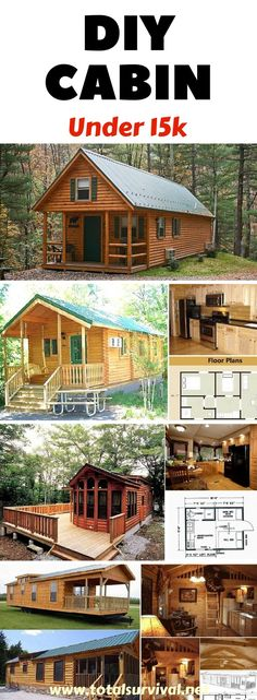 DIY Tips, Homesteading Tips, Preparedness Tips: DIY How to Build a Cabin in 7days for Under $5k. Do you need a little cabin you can build in the woods? Without going into debt? Do you have limited building skills but would still like to build a cabin yourself? Here's a way to build a cabin inexpensively and have a step-by-step outline of how to build it. #cabin #diy #preparedness #diyproject