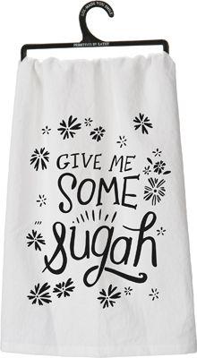 Item # 26994   Dish Towel - Sugah   Primitives by Kathy