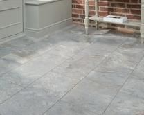 These Professional V Groove Grey Slate laminate tiles offer a more affordable alternative to stone flooring, whilst still looking natural in finish. Grey Flooring, Stone Flooring, Laminate Flooring, Floors, Shaker Style Kitchens, Shaker Kitchen, Glass Dresser, Cabinet Door Styles, Kitchen Collection