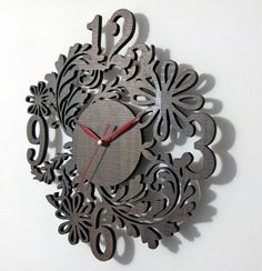 ceas cu flori 2 Clocks, Watches, Wall, Home Decor, Decoration Home, Wristwatches, Room Decor, Walls
