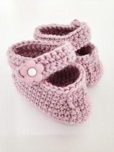 Made by me: Heklede babytøfler
