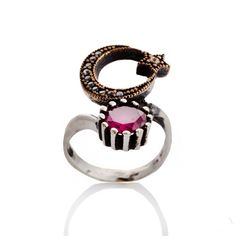 The Zerbap Chole Ring with Zircon Ruby by RoseStyleJewelryShop, $25.00