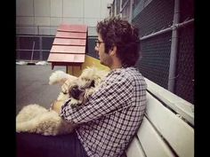 "♥Josh Groban with fur-friend Sweeney ♥ - Alejate ""I never felt in my soul so much love And no one else than you, loved me For you I laughed and cried, I was reborn as well What I had I gave, to have you here... """