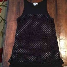 Black studded tank top Only worn a nice. Black with silver studs. Excellent condition. Old Navy Tops Tank Tops