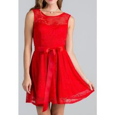 Point Of Perfection Illusion Red Lace Tulle Dress (4300 RSD) ❤ liked on Polyvore featuring dresses, red lace cocktail dress, red floral dress, red fit and flare dress, floral dress and sexy dresses