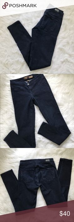 """Paige Rowena Legging Jean Dark Wash Paige Rowena Legging   Sz 28 but fits more like a 26-27  GENTLY used Excellent condition  30"""" Inseam  Super skinny Paige Jeans Jeans Skinny"""