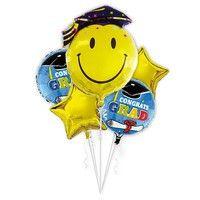 Wish | 5pcs/set Smile Face Foil Balloon Graduation Party Decorations Balloons Doctorial Hat Celebrate Supplies