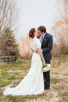 Wedding Dress with Layers and Sleeves