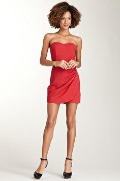 Side Pleated Tulip Skirt Dress