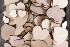 50 or 100 Plywood Hearts