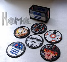 Star Wars coasters set perler by Hamagifts on Etsy