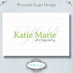 Premade Logo and Watermark...Pre made logo design...Premade Photography Logo