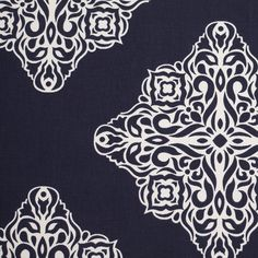 Here is a piece of printed perfection! Layered on top of a clean background remains a large-scaled and spaced out printed pattern involving a motif that could be looked at as a mix between a floral and a damask print. Light-weight and with a crisp drape, this basic cotton woven can easily be transformed in to stylish drapes and/or curtains as well as decorative applications. Note tat this is a single sided print without a backing.