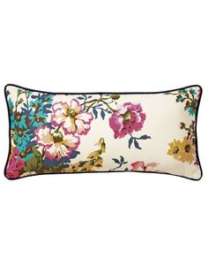 Joules null Cambridge Floral Cushion, Crmflrl.                     Cambridge Floral design on front and stripe on reverse.