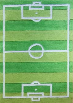 Charming Childrens Rug Football Pitch Rug