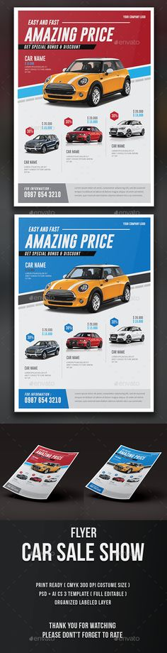 Car Sale Show Flyer Template PSD. Download here: http://graphicriver.net/item/car-sale-show-flyer/15757021?ref=ksioks