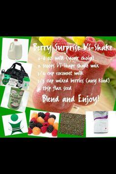 berry, shake, body by vi, recipe, weight loss,