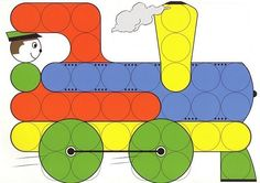 dlja mosaiki - Aleiga V. Kindergarten Math Activities, Montessori Activities, Preschool, Caps Game, Transportation Unit, Do A Dot, Color Games, Early Childhood Education, Kids Rugs