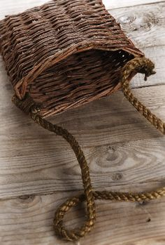 Wicker Basket with Rope Handle $7