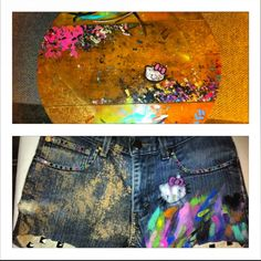Shorts inspired by a table I painted