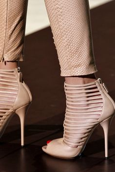 Nude Strappy Booties from Gucci
