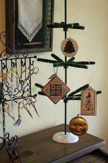 Ornament tree and scissor collection