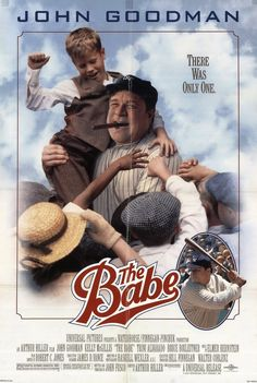 """The Babe"" movie poster, 1992.  One of three baseball movies to film at Wrigley Field in Chicago between 1991 and 1992.  Penny Marshall actually was a crowd extra and watched director Arthur Hiller and his crew work.   She was back later to film ""A League Of Their Own""."
