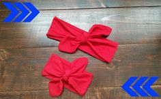 Mommy and Me Red Headband /Knot Headband / by kathrynprisbrey