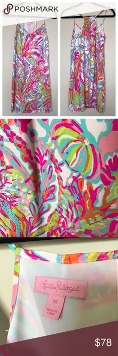 Lilly Pulitzer Silk Dress XS dress in EEEEUC! Lilly Pulitzer Dresses