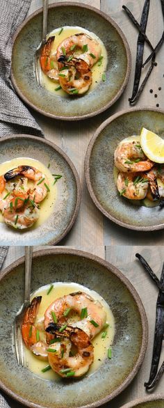 Grilled Shrimp with Vanilla Beurre Blanc