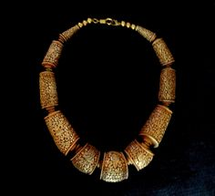 Afghanistan :  silver and goldplated necklace.