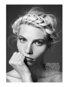 BRIONY MARSH // HAIR & BEAUTY.  Loose, undone crown braid -  beautiful and fresh  www.brionymarsh.com