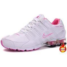 466a55c7b50146 Womens Nike Shox R4 White Pink Cushion5PU Cheap Nike Air Max
