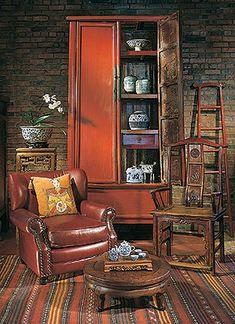 Furniture at Asian Adobe | Santa Fe, New Mexico
