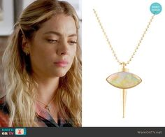 Hanna's necklace on Pretty Little Liars.  Outfit Details: https://wornontv.net/72543/ #PLL