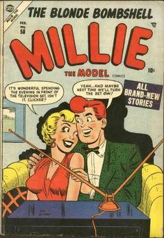 Millie the Model Old Comics, Vintage Comics, Funny Comics, Tv Covers, Comic Book Covers, Comic Books, Archie Comics Characters, Millie The Model, Dan Decarlo