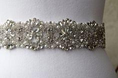 Sarowski Luxury  Crystal Unique Bridal Sash,Best Seller Sash,Rhinestone and Pearl Bridal Sash,Wedding Belt Sash,Bridal Beaded Belt Sash