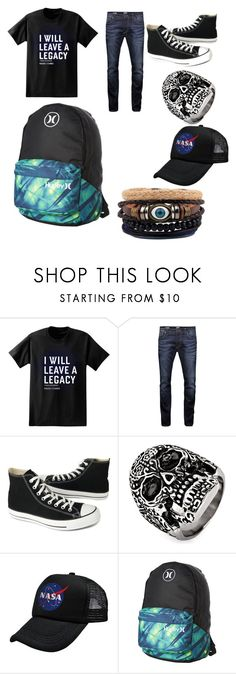 """""""Ace"""" by eddsworld-style ❤ liked on Polyvore featuring Paul Frank, Jack & Jones, Converse, West Coast Jewelry, Hurley, men's fashion and menswear"""