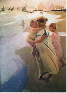 To the Water, Valencia - Joaquin Sorolla y Bastida
