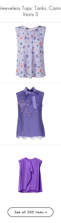 """Sleeveless Tops, Tanks, Camis, Vests 3"" by franceseattle ❤ liked on Polyvore featuring tops, blouses, blue, blue sleeveless top, sleeveless tops, armani collezioni, blue sleeveless blouse, purple sleeveless top, sleeveless top and purple"