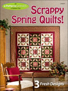 Whether you're looking to save money by putting your fabric scraps to creative use or you're a lifelong recycler, this fresh-for-spring collection is for you! Usher spring into your home with one of three unique quilt patterns. You'll love the lighthearted look of the Tipsy Trail quilt, the Log Cabin blocks featured on the Tulips Around the Cabin quilt, and the bold beauty of the Garden of Eden quilt. Patterns are included for Garden of Eden, Tulips Around the Cabin, and Tipsy Trail. Skill…