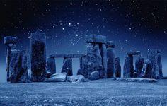 Stonehenge at night, England. Photo by Twitter @planetepics.