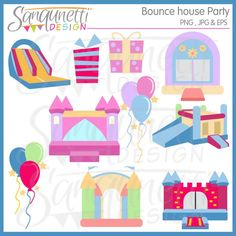 12 best bounce house party printables images bounce house parties rh pinterest com